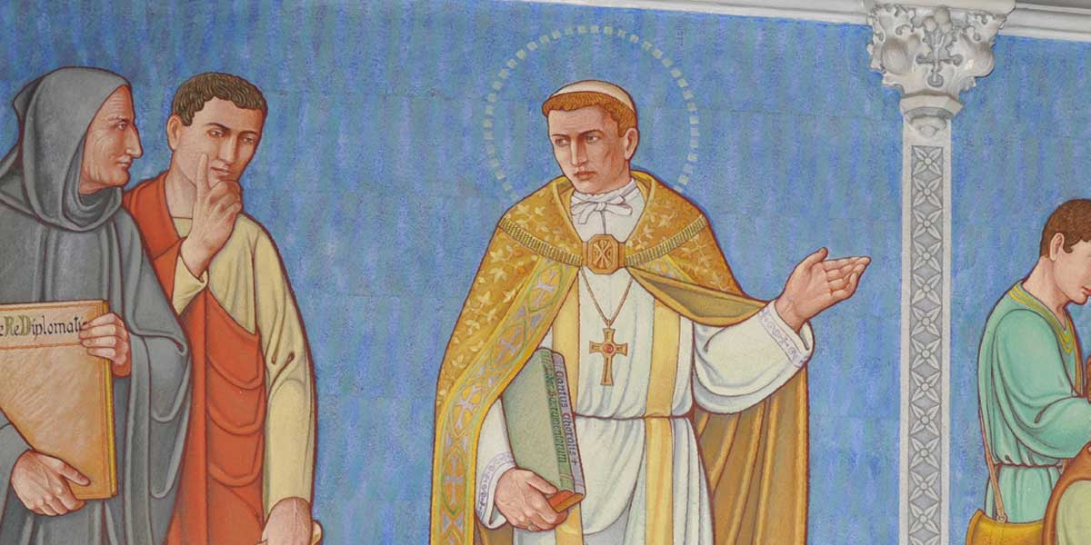 A mural depicting St. Gregory the Great